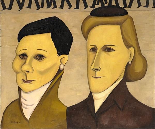 John Brack ~ Two typists, 1955 http://artblart.com/tag/john-brack-retrospective/