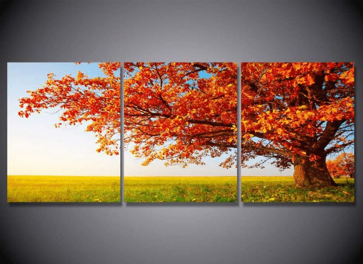 25 unique wall canvas ideas on pinterest photos on wall - Decorative trees with red leaves amazing contrasts ...