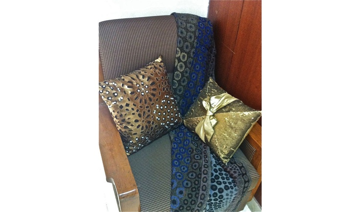 Get into the Ultra-Snob Feel....  Pictured here are Zephyrus-Copper and Gratiae Cushions