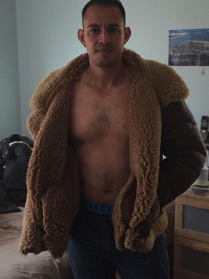 B3 bomber jackets sheepskin men