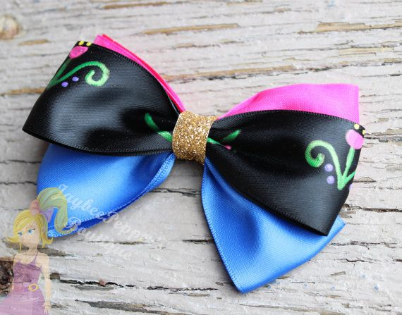 Anna hair bow Frozen hair bow por JaybeePepper en Etsy
