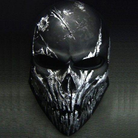 Comprar online máscara airsoft Skull Black - Comprar máscara artesanal para airsoft en Ironforgemask