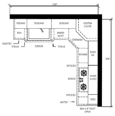 L Shaped Kitchen Floor Plan l shaped small kitchen remodeling ideas l shaped small cabinets