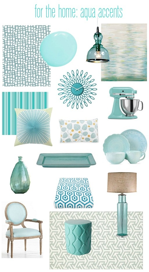 Using aqua in your decor...love