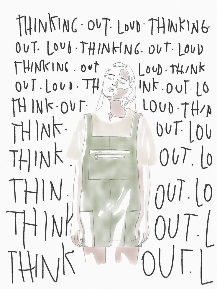 Thinking out loud illustration ipadpro @theheadhunt watercolor pencil fashion