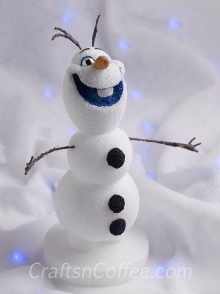 Frozen's Olaf snowman Centerpiece DIY craft