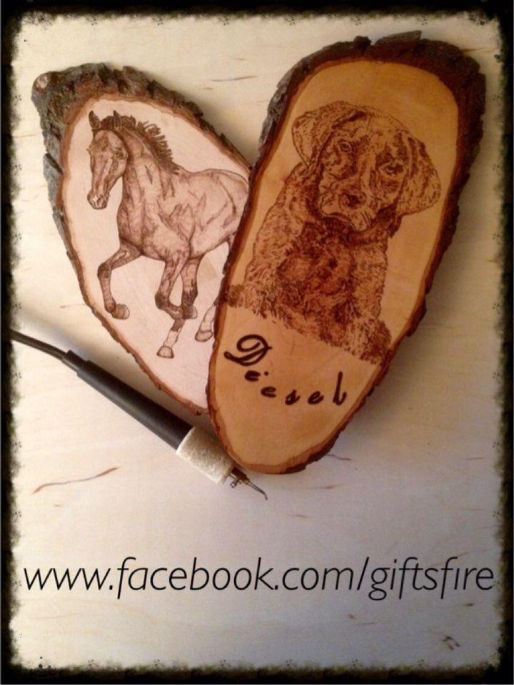 Leuke houten naamborden en meer..... #Pyrography
