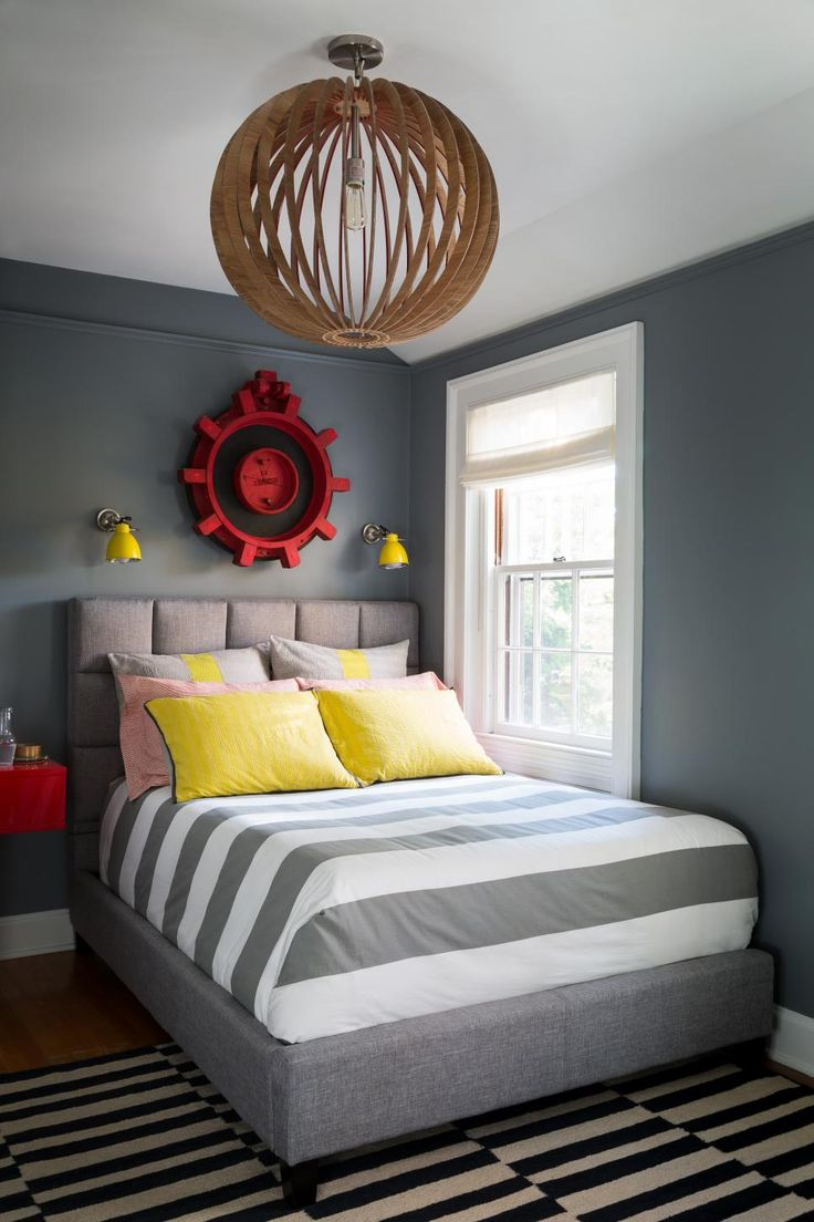 15 Chic Ways To Decorate With Slate Gray. Boy Bedroom ...