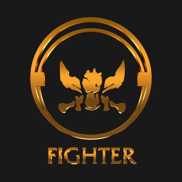 League Of Legends Fighter Gold Emblem League Of Legends T Shirt Teepublic League Of Legends Logo Mobile Legend Wallpaper Alucard Mobile Legends