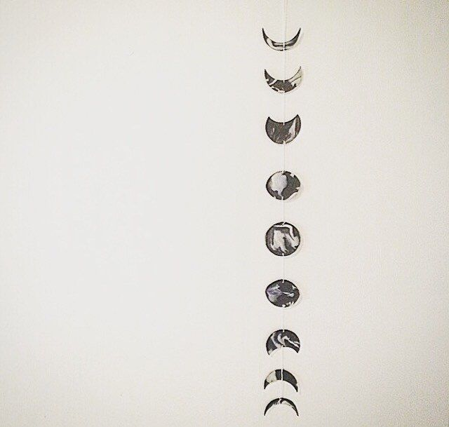 Phases of the Moon Wall Hanging by WestwardNotions on Etsy https://www.etsy.com/se-en/listing/245408660/phases-of-the-moon-wall-hanging