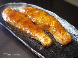 Easy miso glazed salmon
