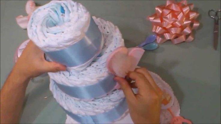 3 tier diaper cake instructions