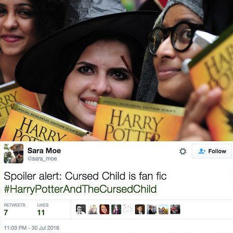 "Everyone Thinks ""Harry Potter And The Cursed Child"" Is Basically Fanfic  https://www.buzzfeed.com/alannabennett/harry-potter-and-the-au?utm_term=.xhXdvLay7&bffbbooks#.cmv5Rzo2X"