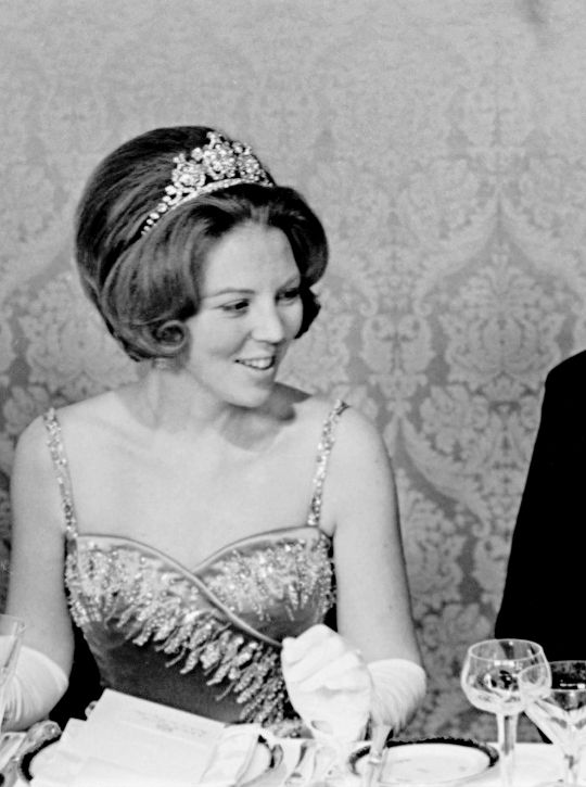 Regeringsdiner in honour of the Wedding of Princess Beatrix of the Netherlands and Claus Van Amsberg. 5th March 1966.
