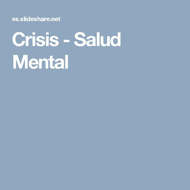 Crisis - Salud Mental