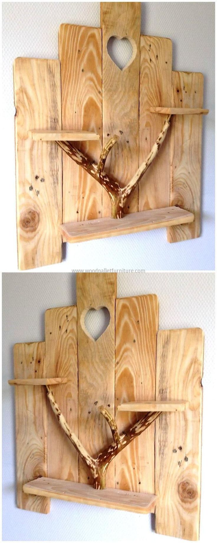 When it comes to wall decoration; salvaging wood pallet is there to solve the need of ornamentation of your place brilliantly. This simple and beautiful craft increases the beauty of your area in mesmerizing way. The use of natural piece of wood in this project is giving artistic look. #simplewoodworking