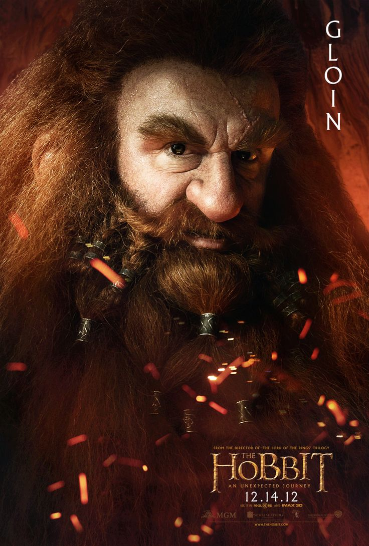 The Hobbit: An Unexpected Journey | Gloin- Gimli's father (Peter Hambleton) #thehobbit #gloin #dwarf