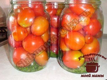 маринованные помидоры, укладываем в банки