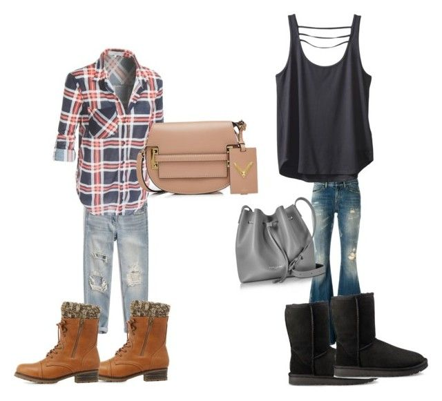 """""""Untitled #110"""" by adrianna-nicole-smith on Polyvore featuring Faith Connexion, Abercrombie & Fitch, Kavu, Charlotte Russe, UGG, Lancaster and Valentino"""