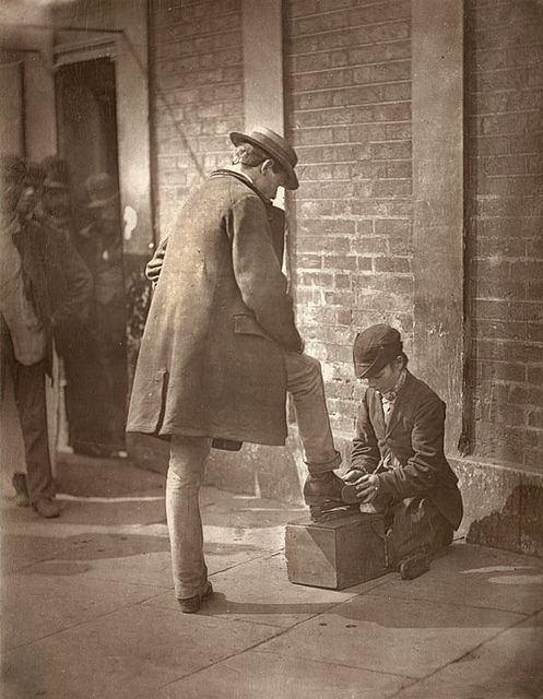 The Independent Shoe-Black From 'Street Life in London', 1877, by John Thomson and Adolphe Smith: