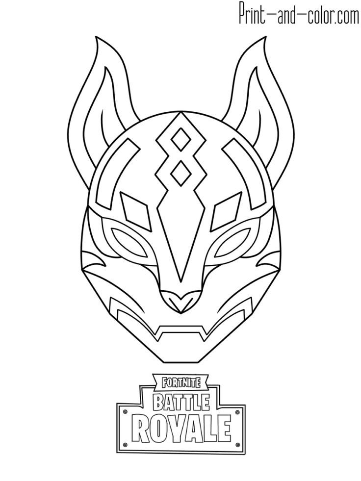 Fortnite Battle Royale Coloring Page Drif Mask Christine