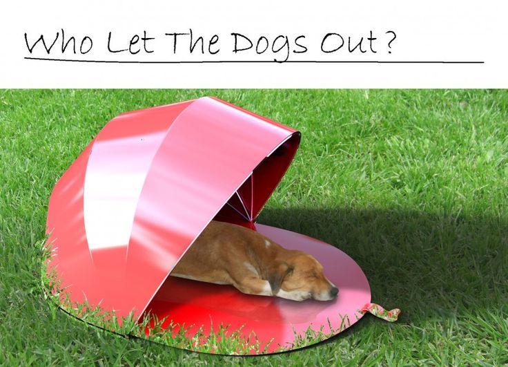 Rate! Formabilio - Tendina trasportabile per cani e gatti. Permette di portare il tuo cucciolo in spiaggia o al parco, tenerlo in giardino all'ombra dandogli un posto dove riposare e stare al fresco; acqua e pappa sempre protetti e a disposizione!