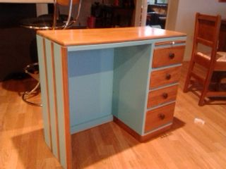 free rimu desk that i acquired transformed see before photo
