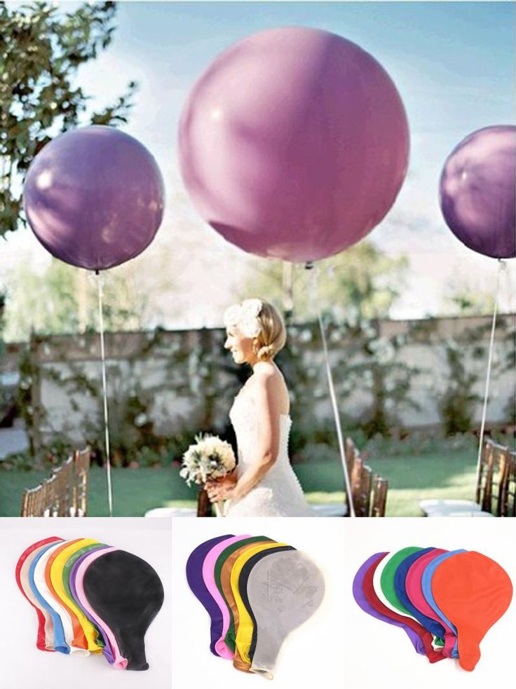 [Visit to Buy] Newcomdigi 36 Inch Huge Latex Ballons or Tissue Garland Wedding Decoration Super Big Balloon For Party,Birthday,Carnival wedding #Advertisement