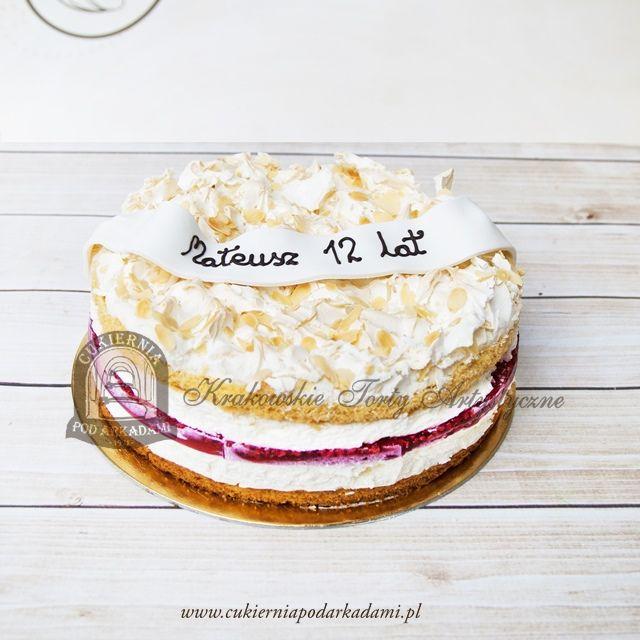 "21BC Tort malinowa chmurka.  ""Raspberry Cloud"" cake."