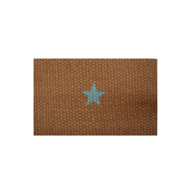 Felpudo Twenty con estrella turquesade la firma Twenty Violets, especializada en complementos para la mujer plasma en sus diseños el gusto por la originalidad y la artesanía
