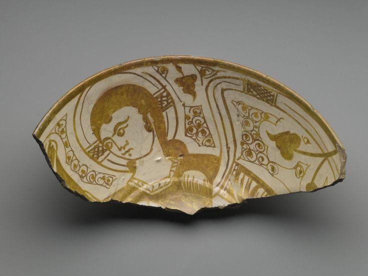 Fragment of a Bowl Medium: Ceramic, monochrome lusterware, pink earthenware body Dates: 11th century Period: Fatimid Period