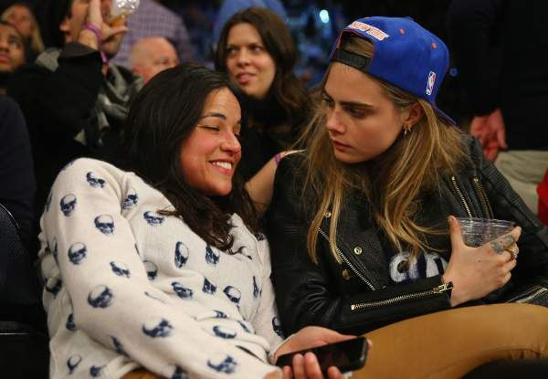 Click here for photos of Cara Delevigne and Michelle Rodriguez making out!