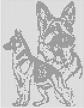 IF YOU ARE UNFAMILIAR WITH FILET CROCHET YOU CAN FIND A FREE SAMPLE PATTERN AND TUTORIAL WITH WRITTEN INSTRUCTIONS AND MANY HELPFUL HINTS,( ALSO TUNI: