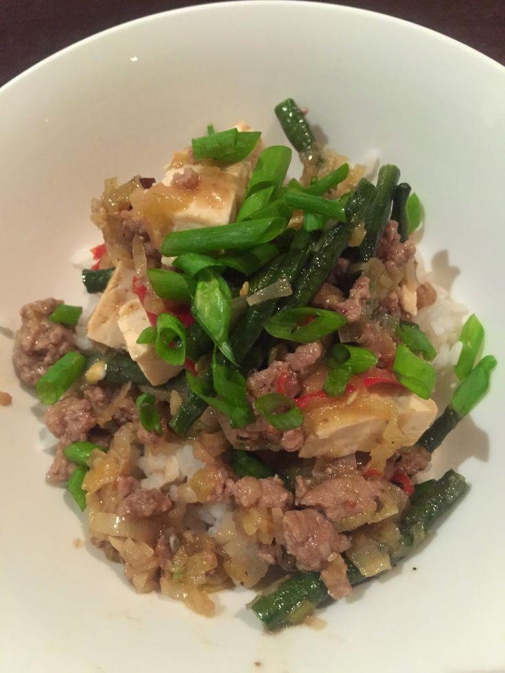 3EggsFull: Bean, leek & tofu with pork