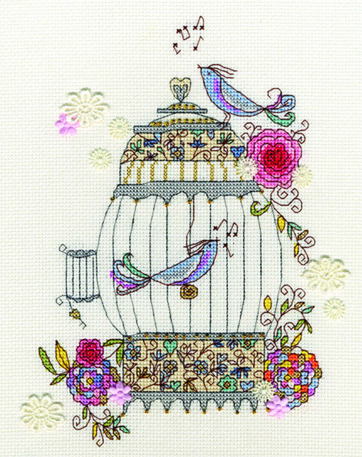 Love Birds cross-stitch from Bothy Threads