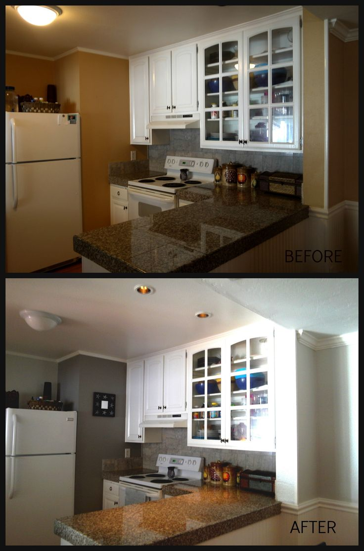 Before and after silver pointe and pewter cast sherwin - Sherwin williams interior paint finishes ...