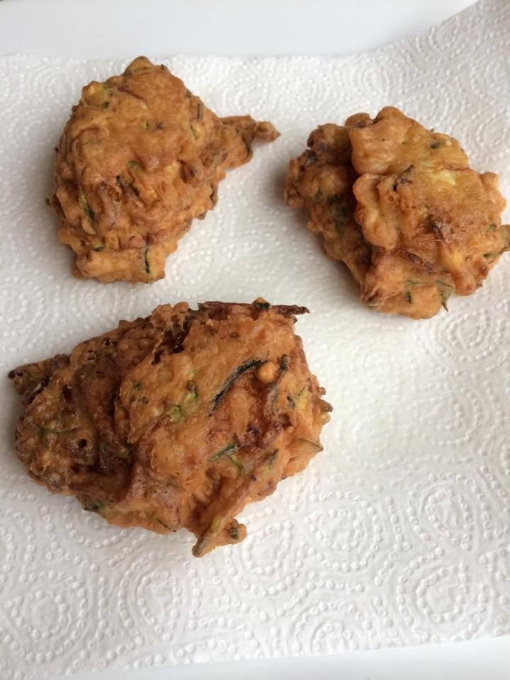 Courgette and Shallot Fritters ( WF/GF)