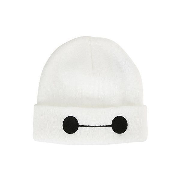 Disney Big Hero 6 Baymax Watchman Beanie | Hot Topic (£9.48) ❤ liked on Polyvore featuring accessories, hats, headwear, head, white hat, disney, white beanie hat, disney hats and beanie hats