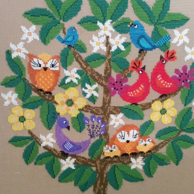 Vintage embroidered wallhanging