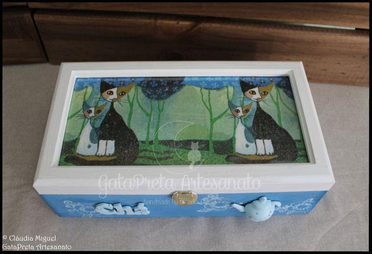 """Caixa de chá """"Klimt Cats""""."""