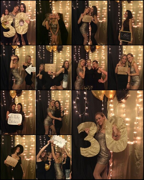 30.Birthday party - birthday decoration,gold and black photo backdrop decoration with lights