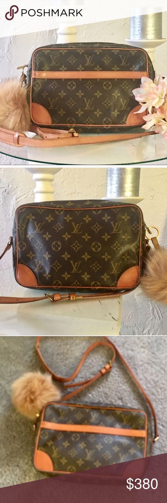 "% Authentic Louis Vuitton Tracadero Crossbody Authentic Louis Vuitton Tracadero 26 Crossbody monogram. Looks like new! Material monogram canvas and leather. Country manufacture France. W10.2"" H7.0"" D2.5""/strap drop 17.7-21.6"", one zippered pocket inside.!keychain included l. Bundle and save 15% Louis Vuitton Bags Crossbody Bags"