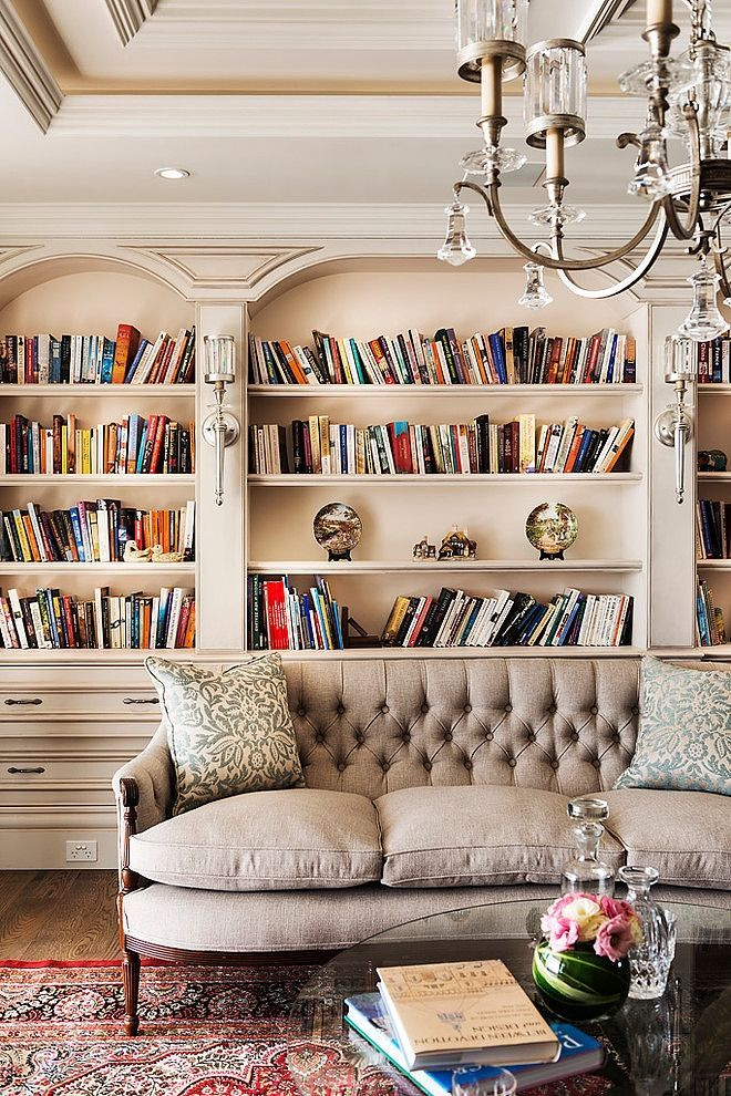 28 Dreamy Home Offices With Libraries For Creative Inspiration: 17 Best Images About Built Ins Cabinets - French Country On Pinterest