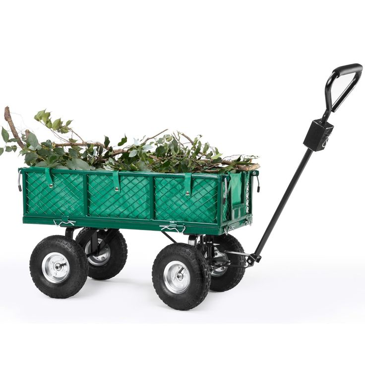 VonHaus All Terrain Heavy Duty Steel Garden Utility Cart   Load Capacity,  Folding Sides And Off Road Tires * Check Out This Great Image : Home Diy  Yard