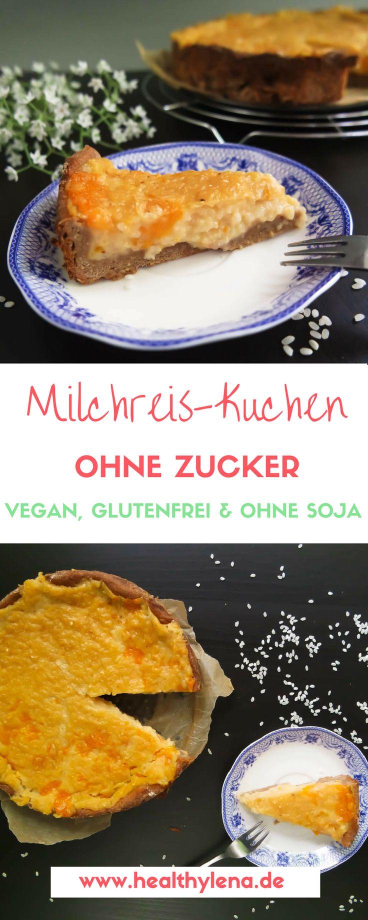 Veganer Milchreis Kuchen U2013 Fettarm, Glutenfrei U0026 Ohne Soja