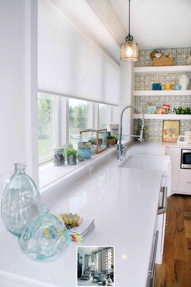 How Do You Clean Faux Wood Blinds Without Taking Them Down Check Out The Pic For Lots Of Ide Kitchen Window Blinds Kitchen Window Design Kitchen Window Sill