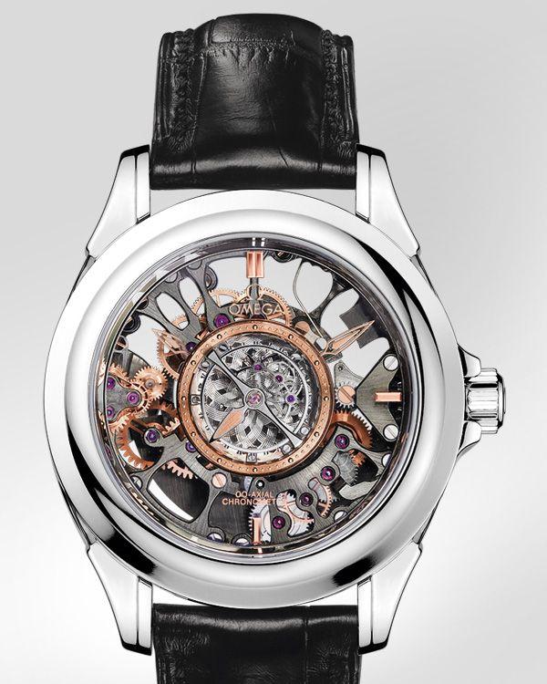 OMEGA Watches: De Ville Tourbillon - Platinum on leather strap - 513.93.39.21.99.001