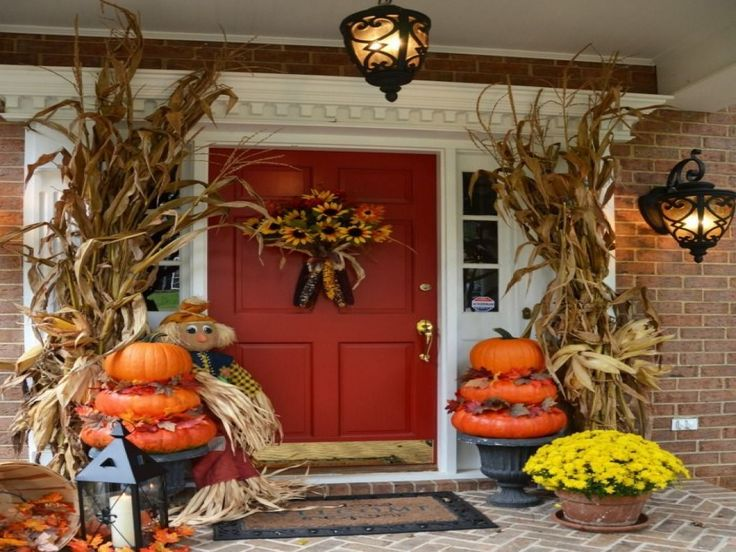 41 best Fun with Pumpkins images on Pinterest Fall decorating - decorating front door for halloween