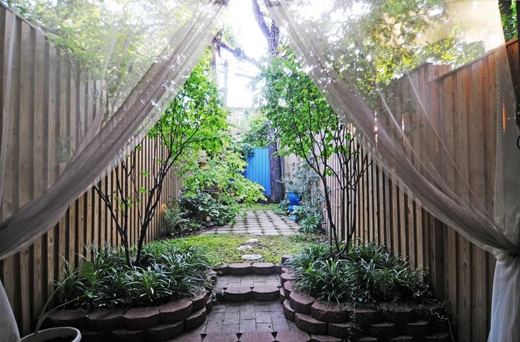 outdoor mosquito curtains, genius!   Outdoor Decor   Pinterest