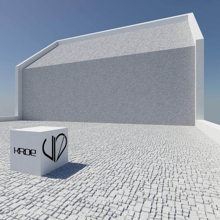 Płyty elewacyjne z betonu GRC Kroe Champagne białe 600x300 cm